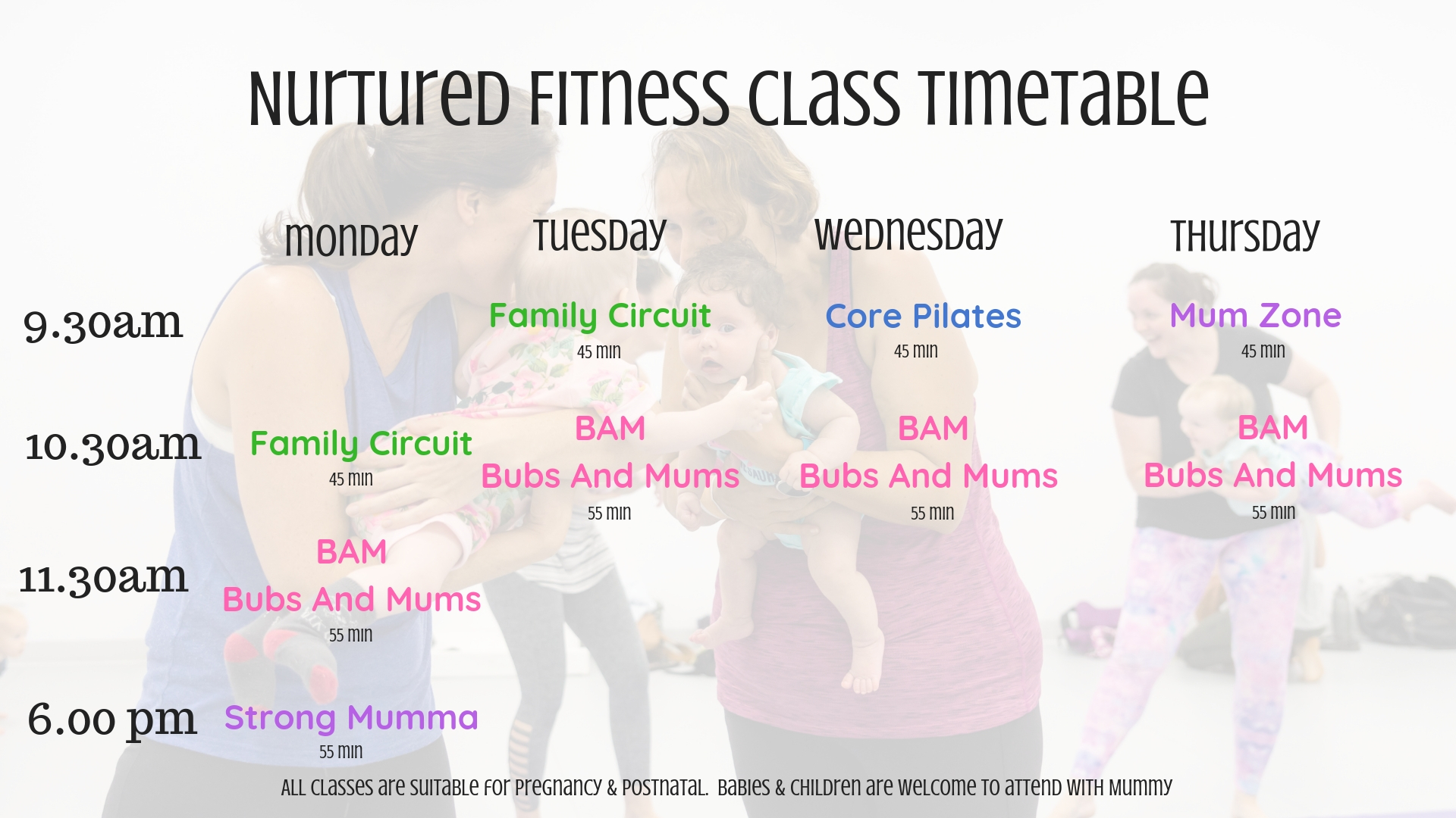 Nurtured Fitness Class Timetable (6)